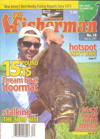 15 pound the fisherman magazine scott newhall doormat