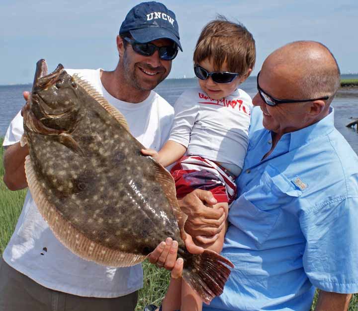 Altantic city and brigantine fishing yields huge flounder like this 10 pound doormat.