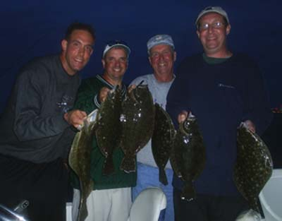 summer flounder caught on a South Jersey fluke fishing charter, New Jersey fluke fishing trip