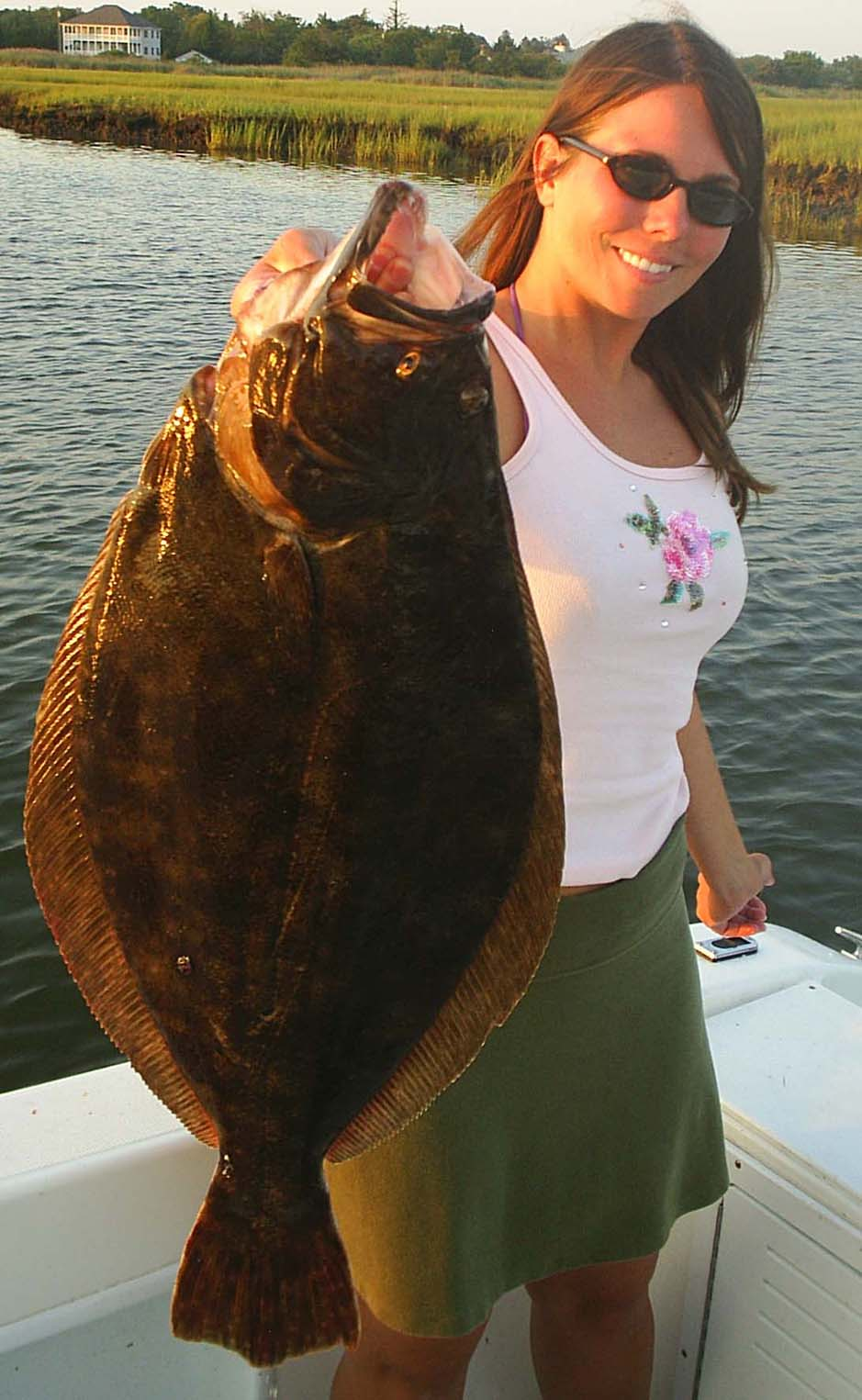 Brigantine fluke fishing in the back bay 9 pound doormat