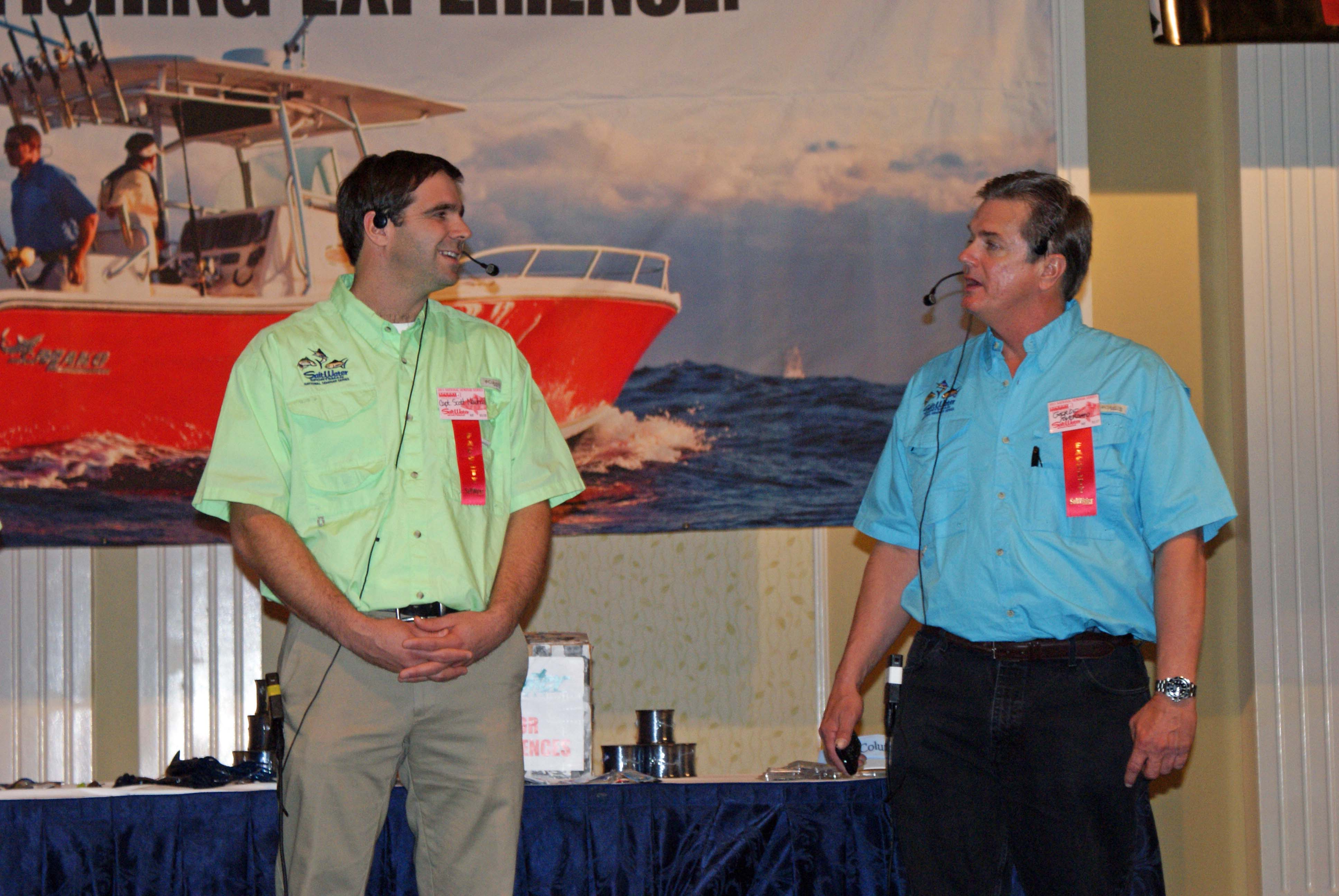 Saltwater Sportsman seminar series in Atlantic city featured capt. scott discussing flounder fishing in the back bay and atlantic ocean.